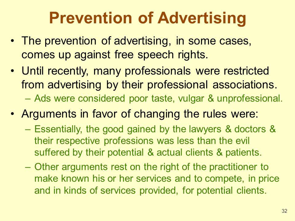 Prevention of Advertising
