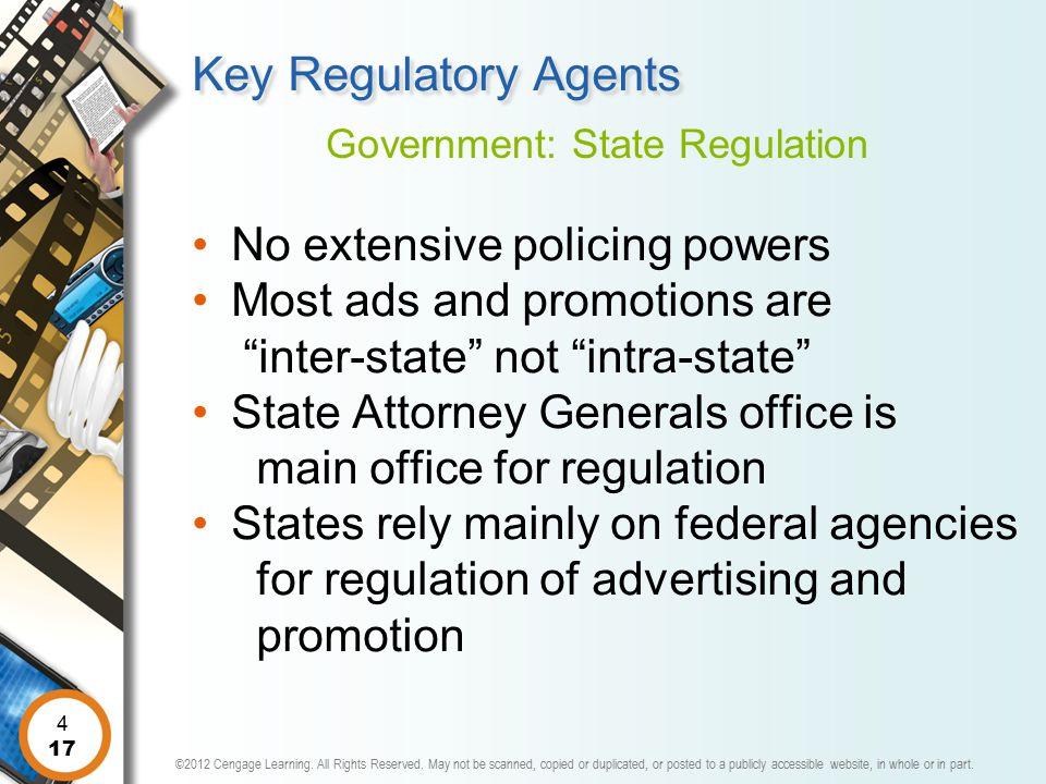 Government: State Regulation