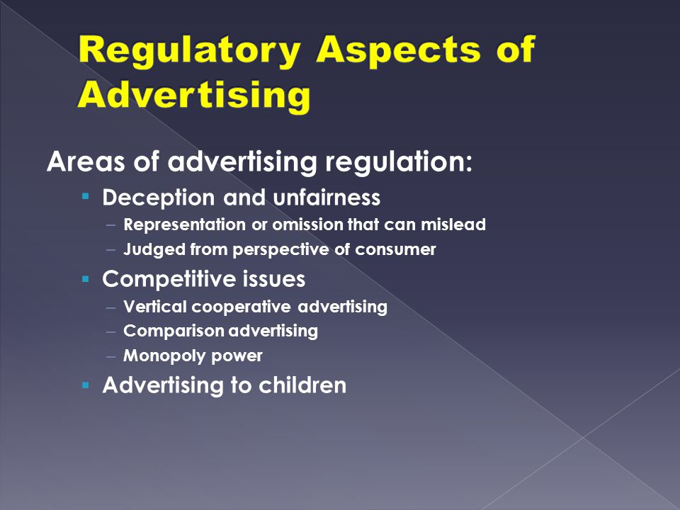 Regulatory Aspects of Advertising