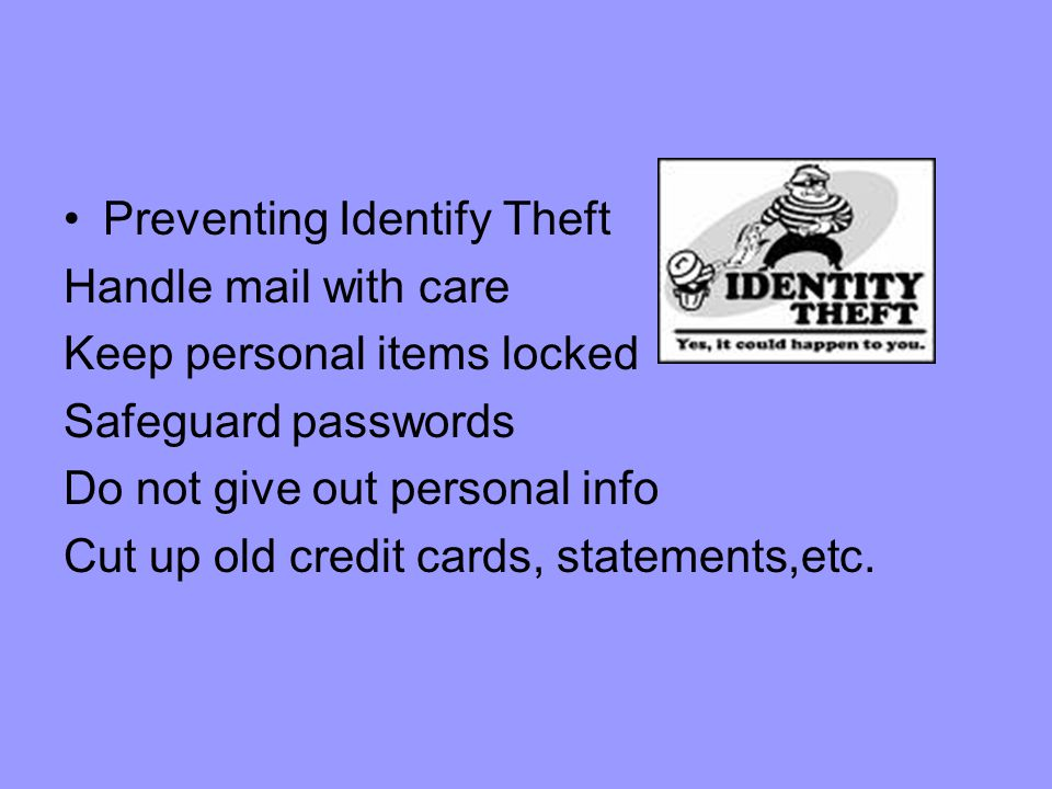 Preventing Identify Theft