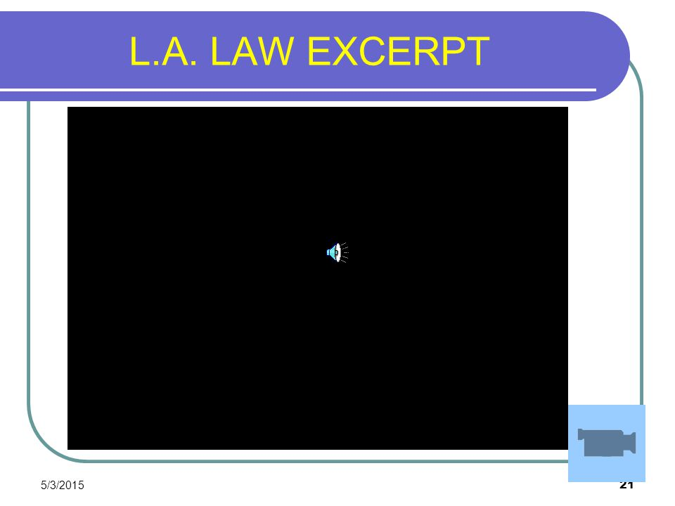 L.A. LAW EXCERPT 4/14/2017