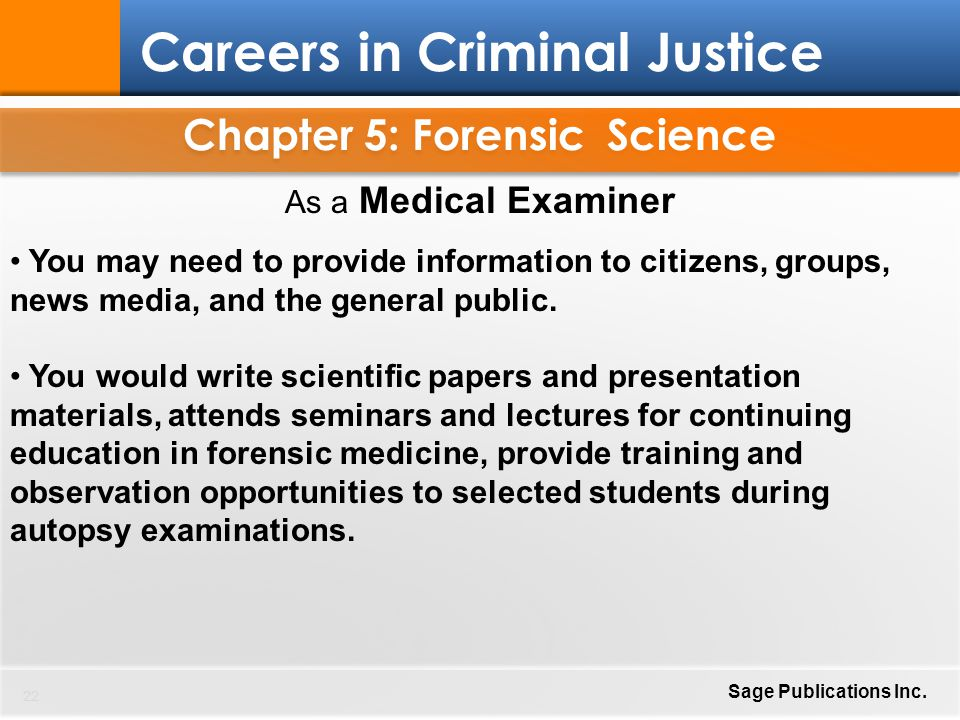 Criminal forensic science essay