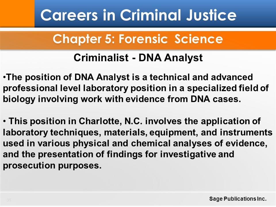 chapter five forensic science Chapter five forensic analysis forensic science is the application of  scientific knowledge to legal problems or proceedings in law enforcement,  forensic.