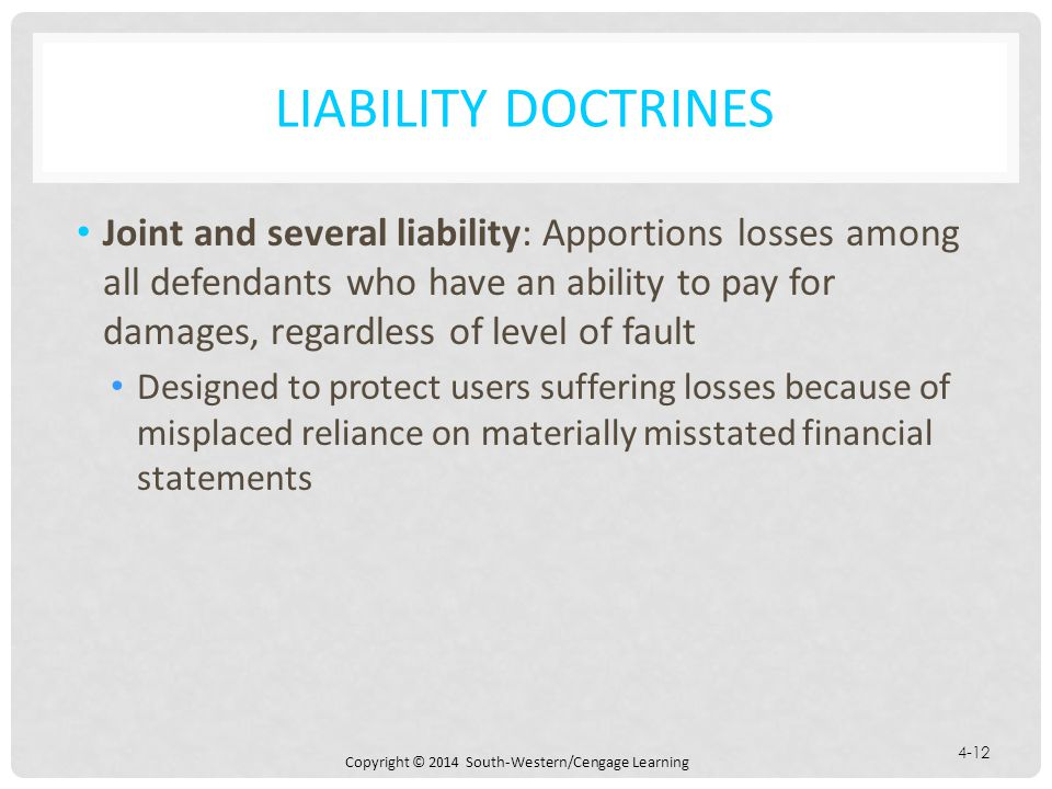 Liability Doctrines