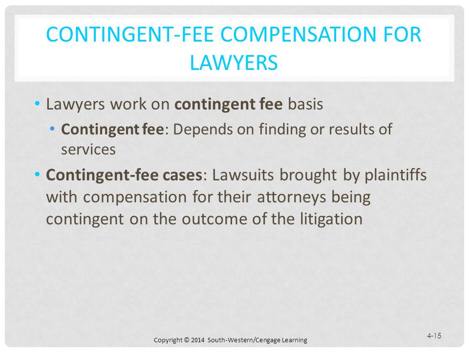 Contingent-Fee Compensation for Lawyers