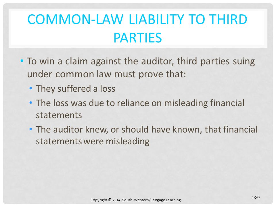 Common-Law Liability to Third Parties