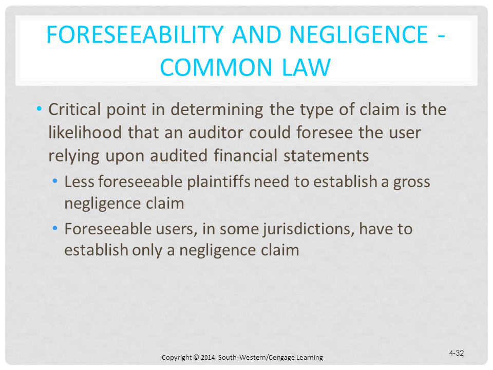 Foreseeability and Negligence -Common Law