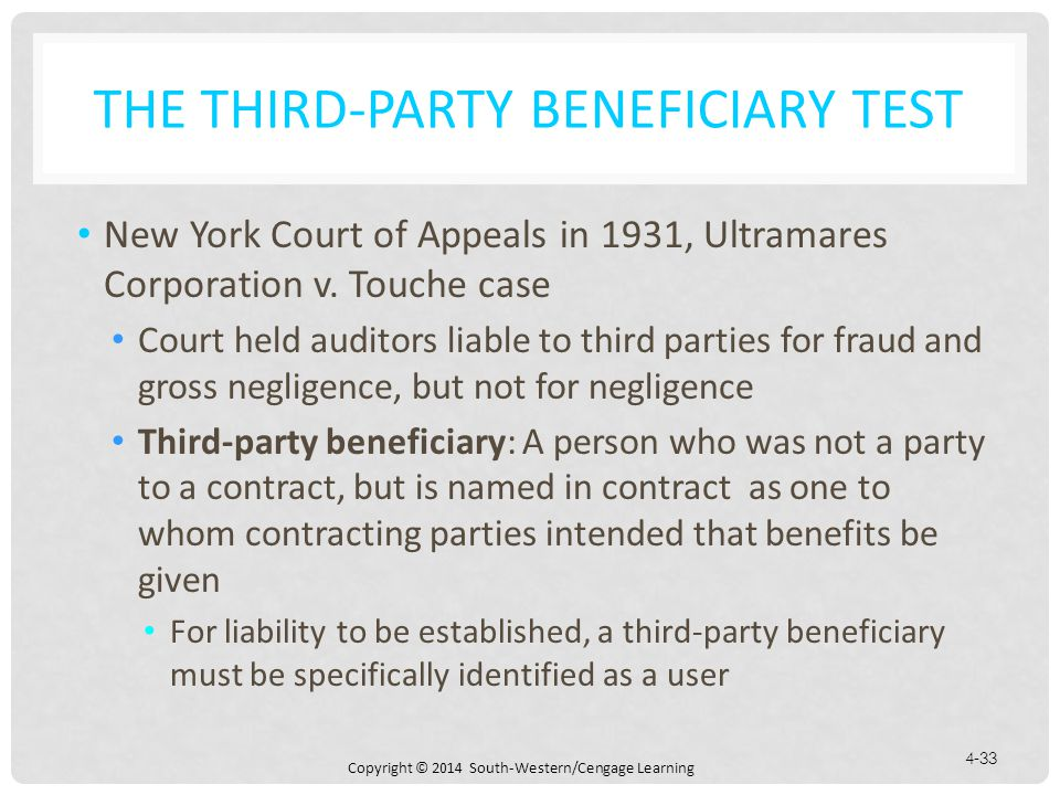 The Third-Party Beneficiary Test