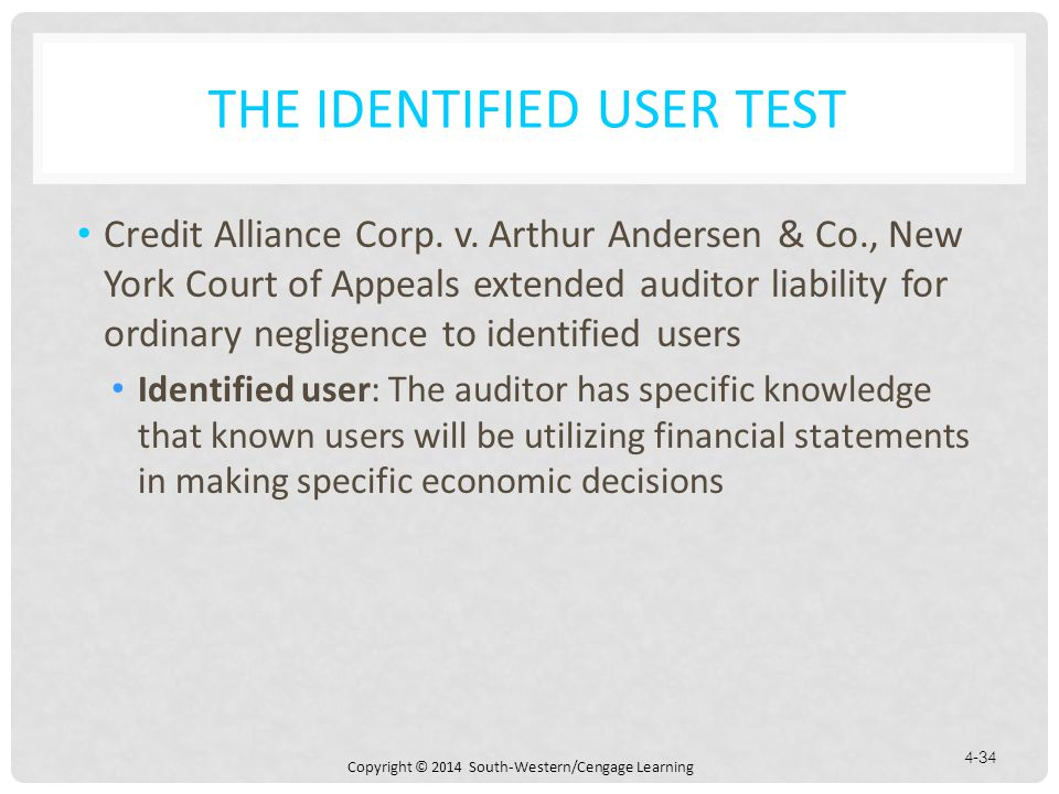 The Identified User Test