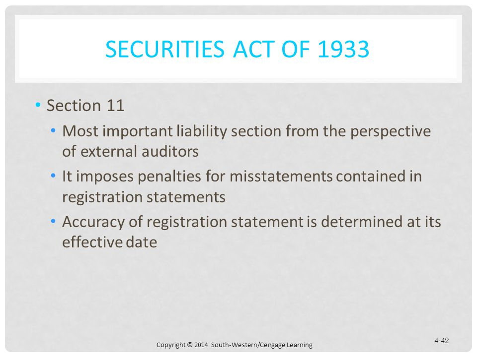 Securities Act of 1933 Section 11