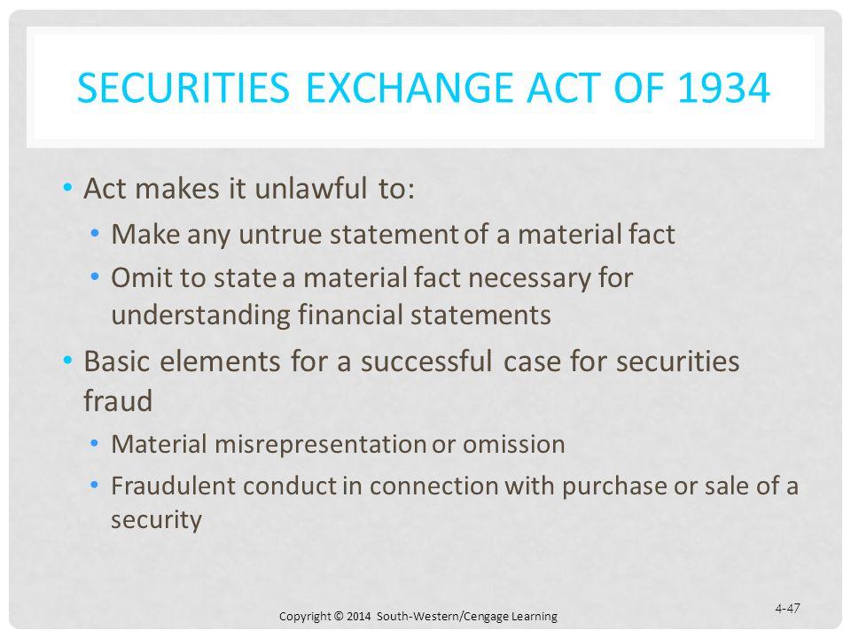 Securities Exchange Act of 1934
