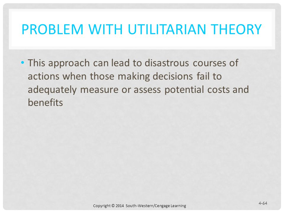 Problem with Utilitarian Theory