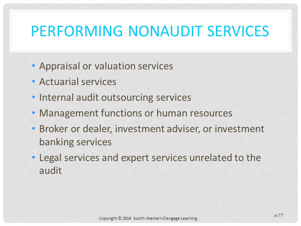 Performing Nonaudit Services