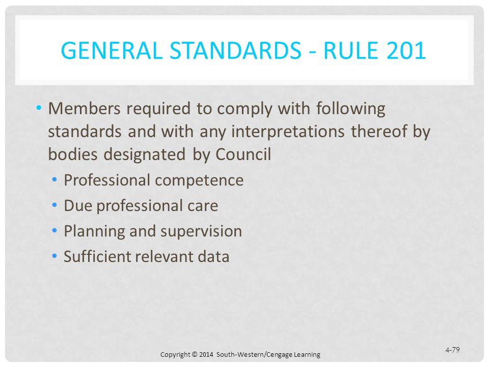 General Standards - Rule 201