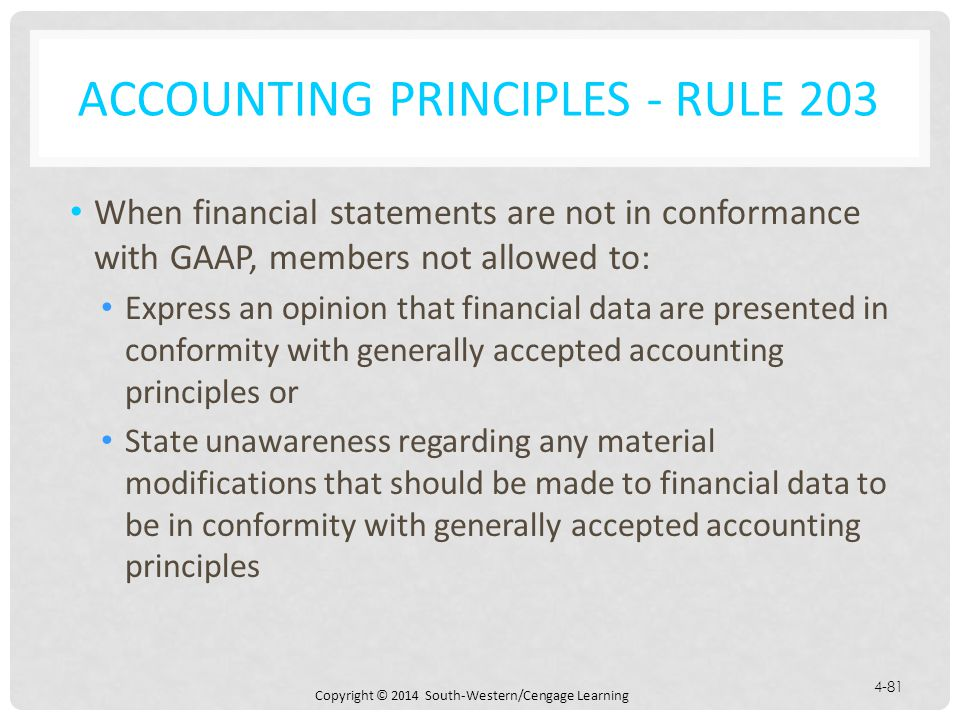 Accounting Principles - Rule 203