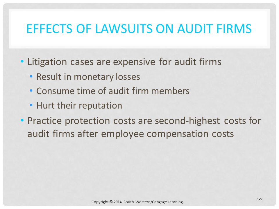 Effects of Lawsuits on Audit Firms