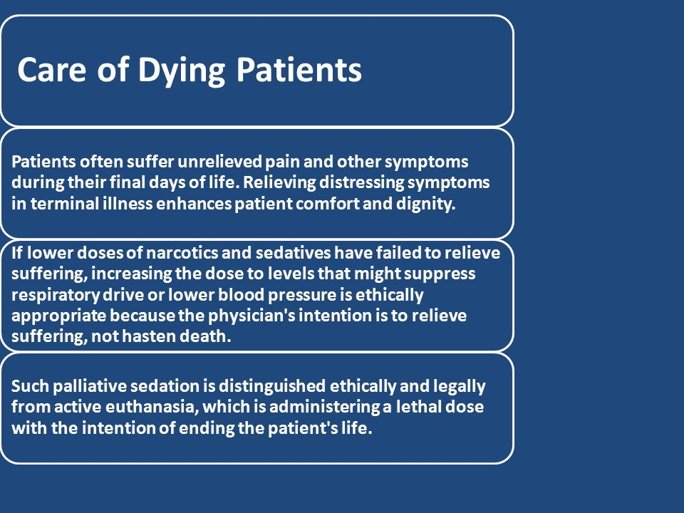 Care of Dying Patients