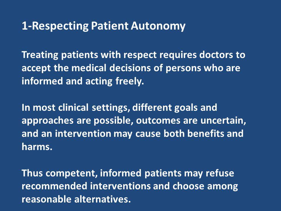 1-Respecting Patient Autonomy