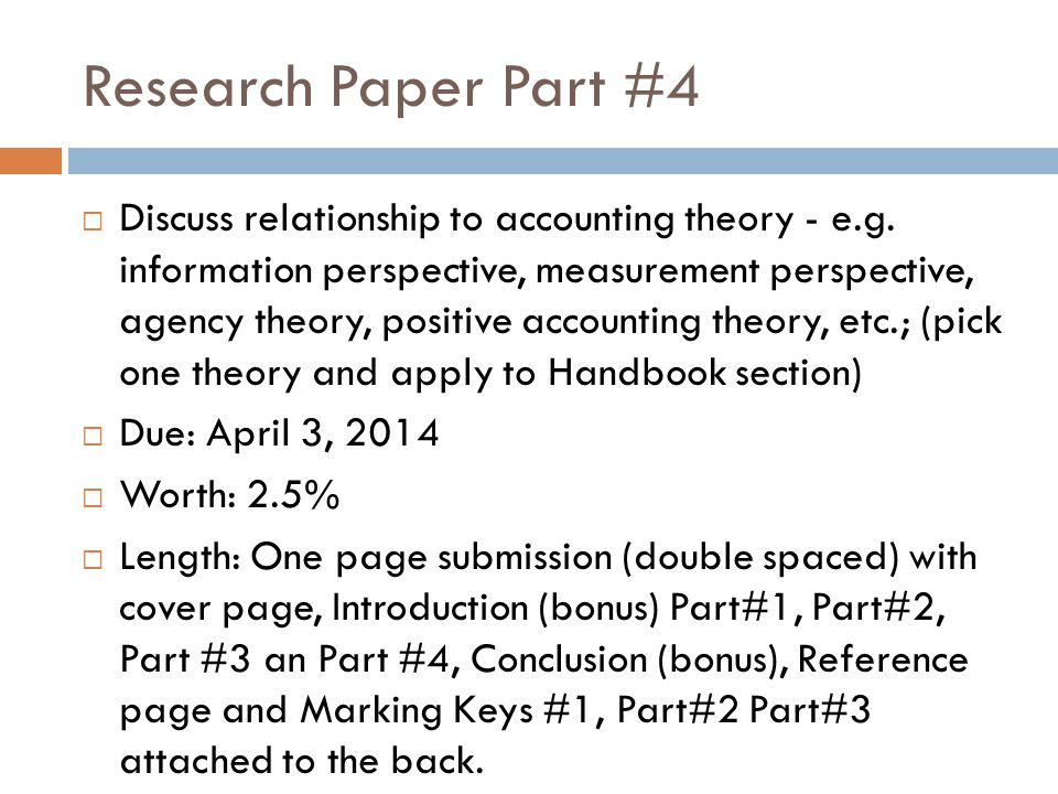 Research papers positive accounting theory