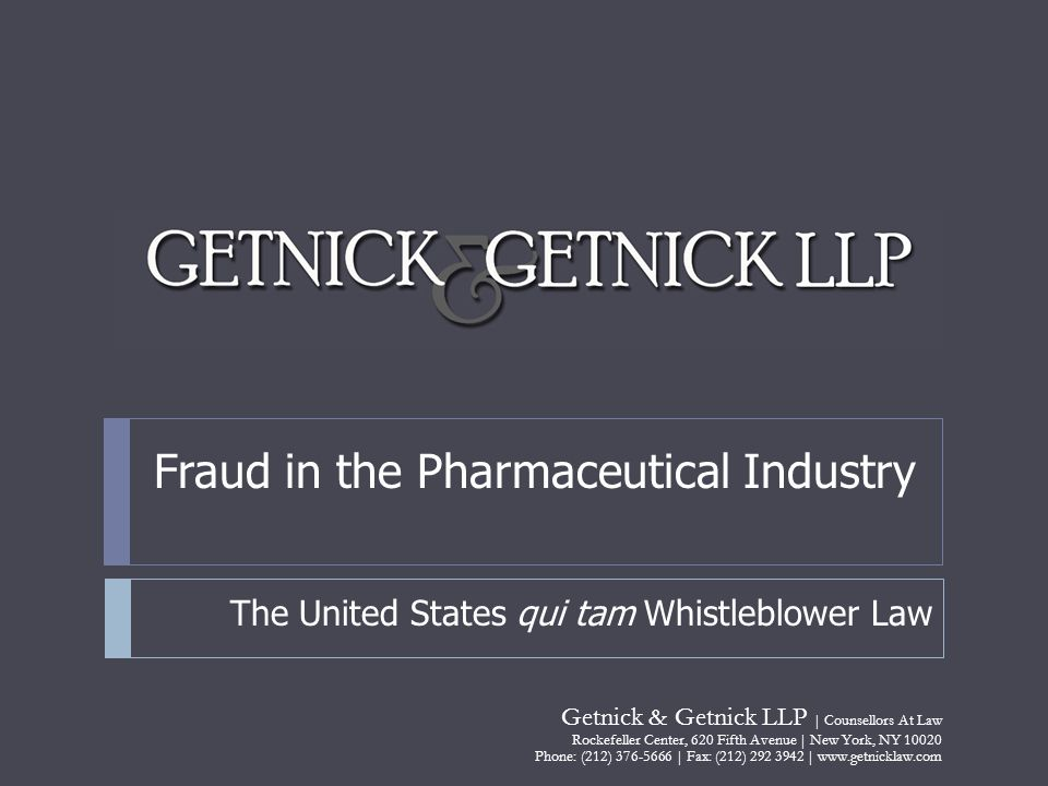 Fraud in the Pharmaceutical Industry