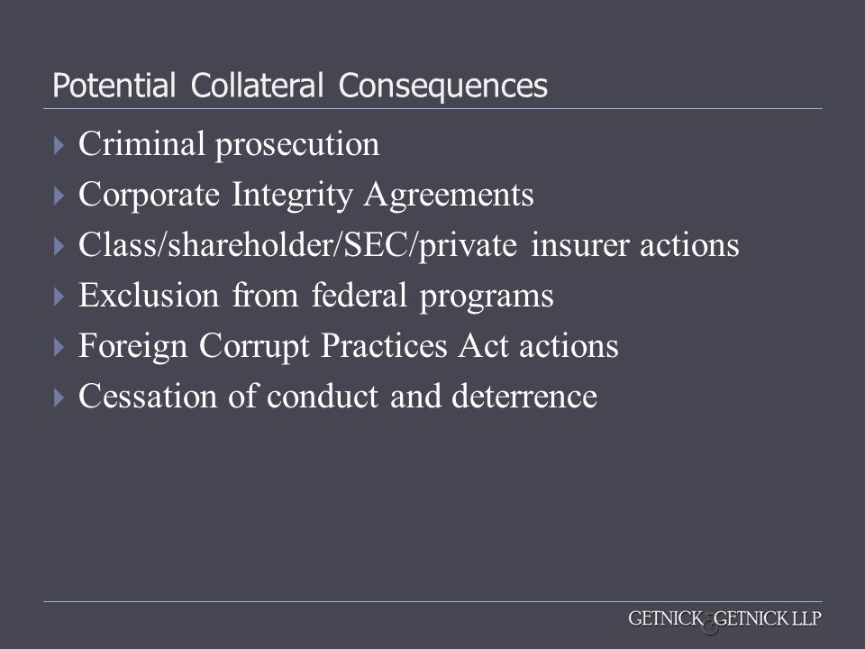 Potential Collateral Consequences