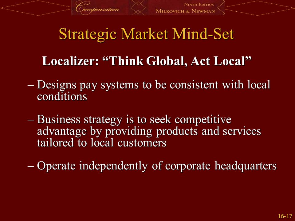 Strategic Market Mind-Set