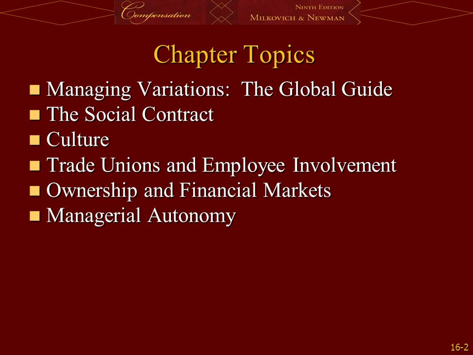 Chapter Topics Managing Variations: The Global Guide