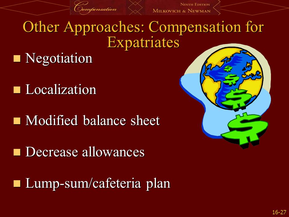 Other Approaches: Compensation for Expatriates
