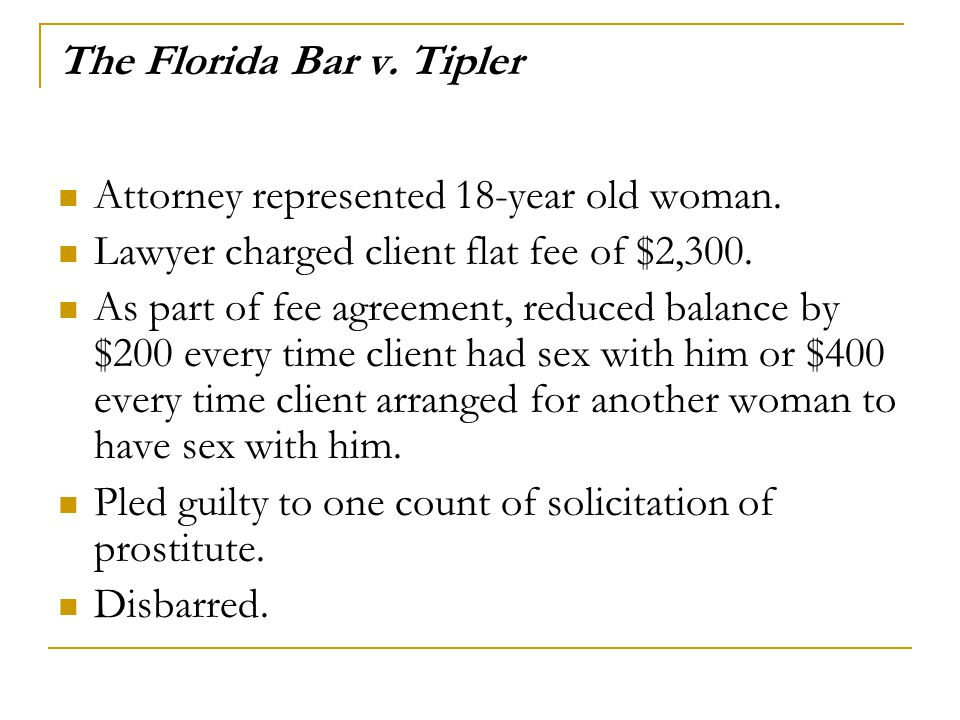 The Florida Bar v. Tipler