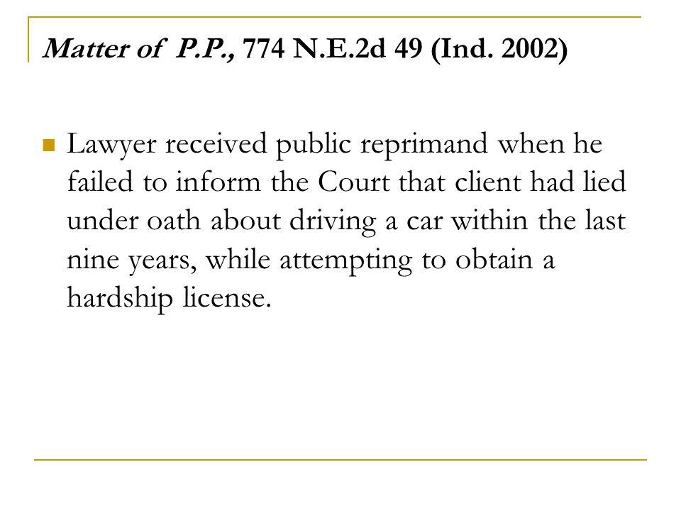 Matter of P.P., 774 N.E.2d 49 (Ind. 2002)