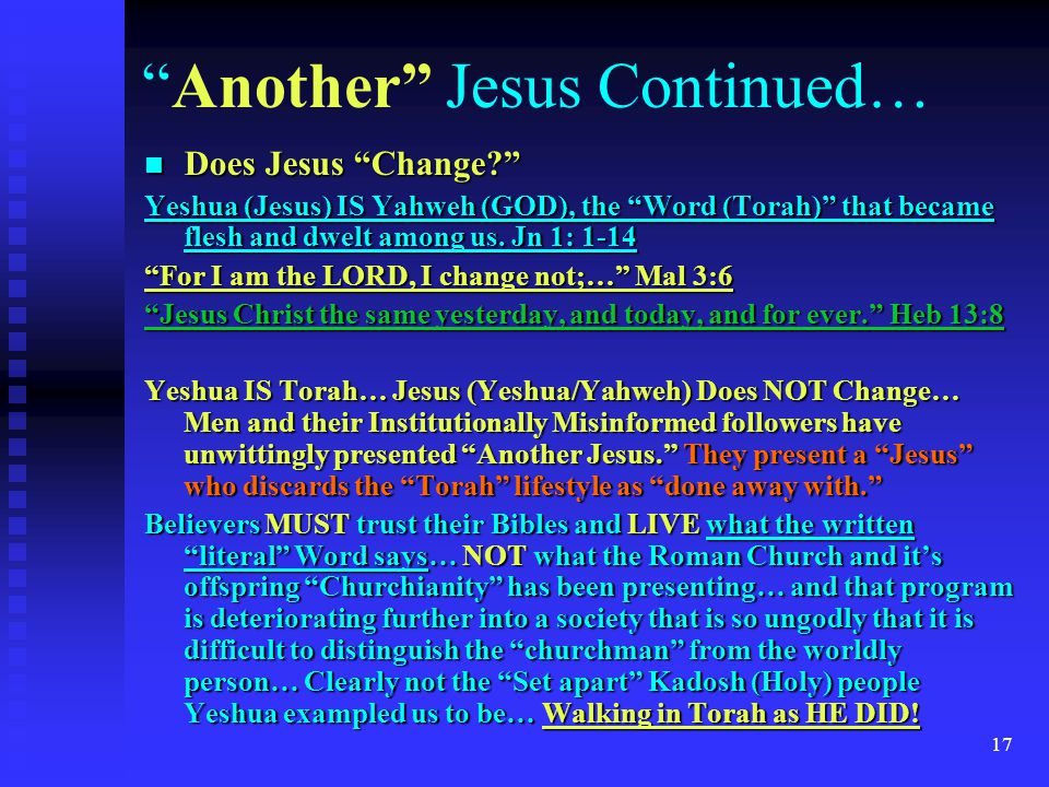 Another Jesus Continued…