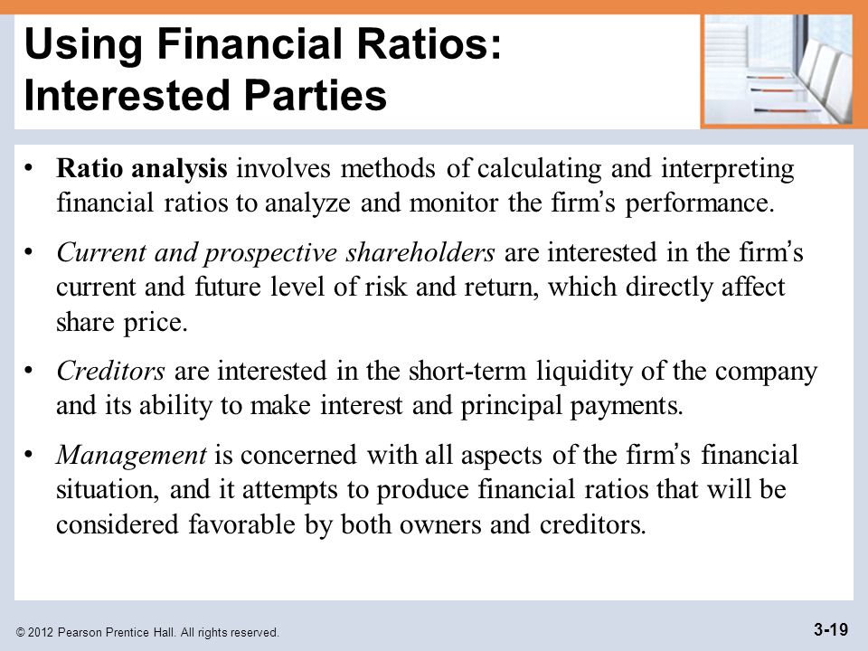 Using Financial Ratios: Interested Parties