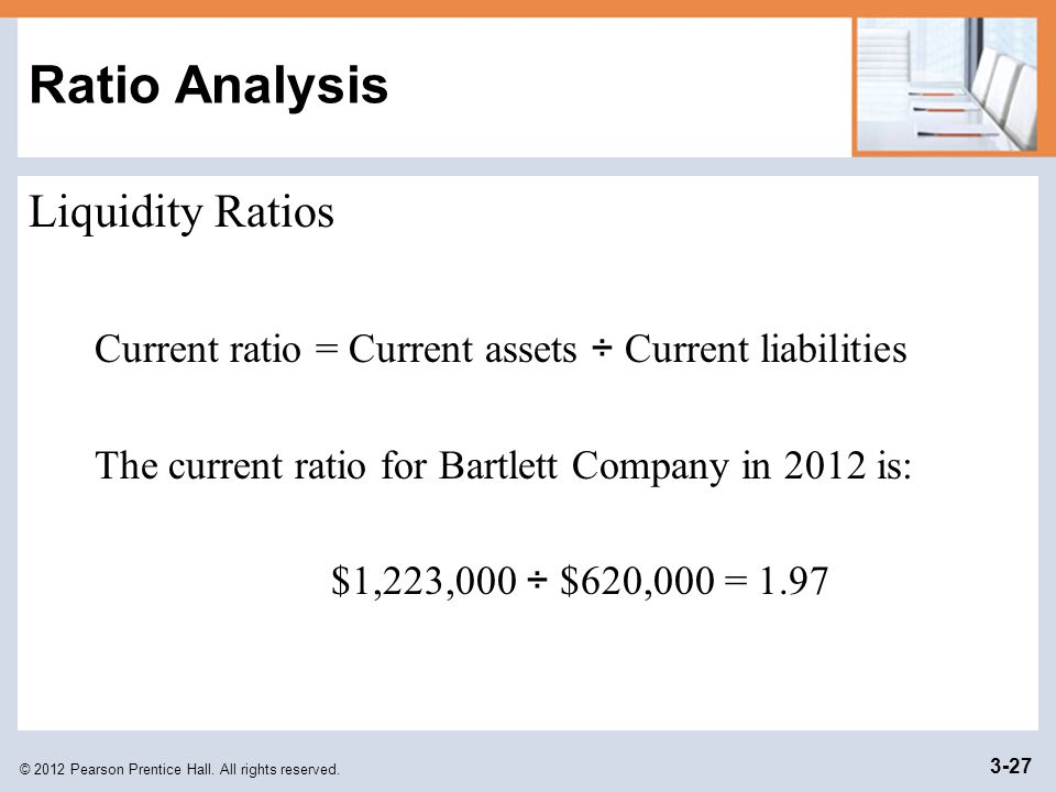 Ratio Analysis Liquidity Ratios