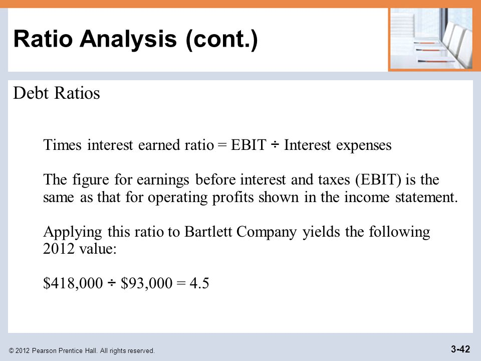 Ratio Analysis (cont.) Debt Ratios