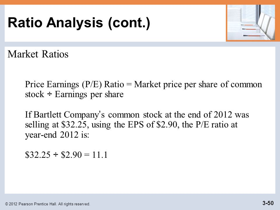 Ratio Analysis (cont.) Market Ratios