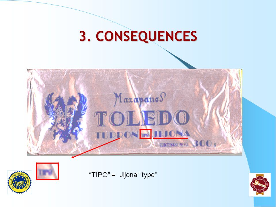 3. CONSEQUENCES TIPO = Jijona type
