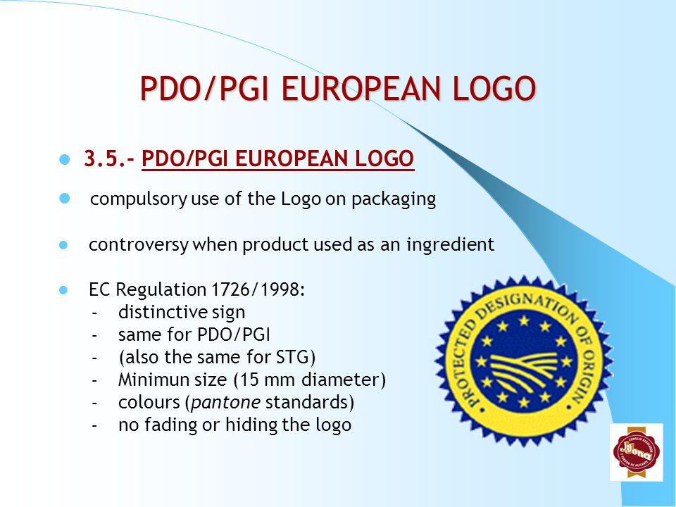 PDO/PGI EUROPEAN LOGO 3.5.- PDO/PGI EUROPEAN LOGO