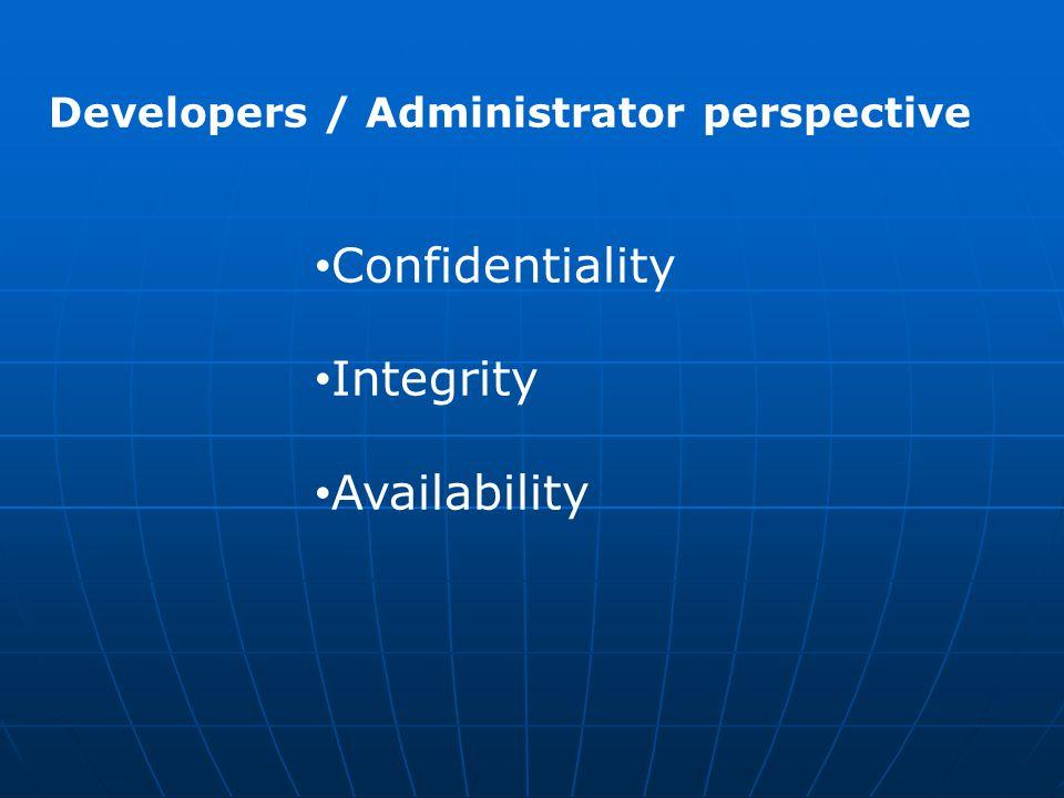 Confidentiality Integrity Availability