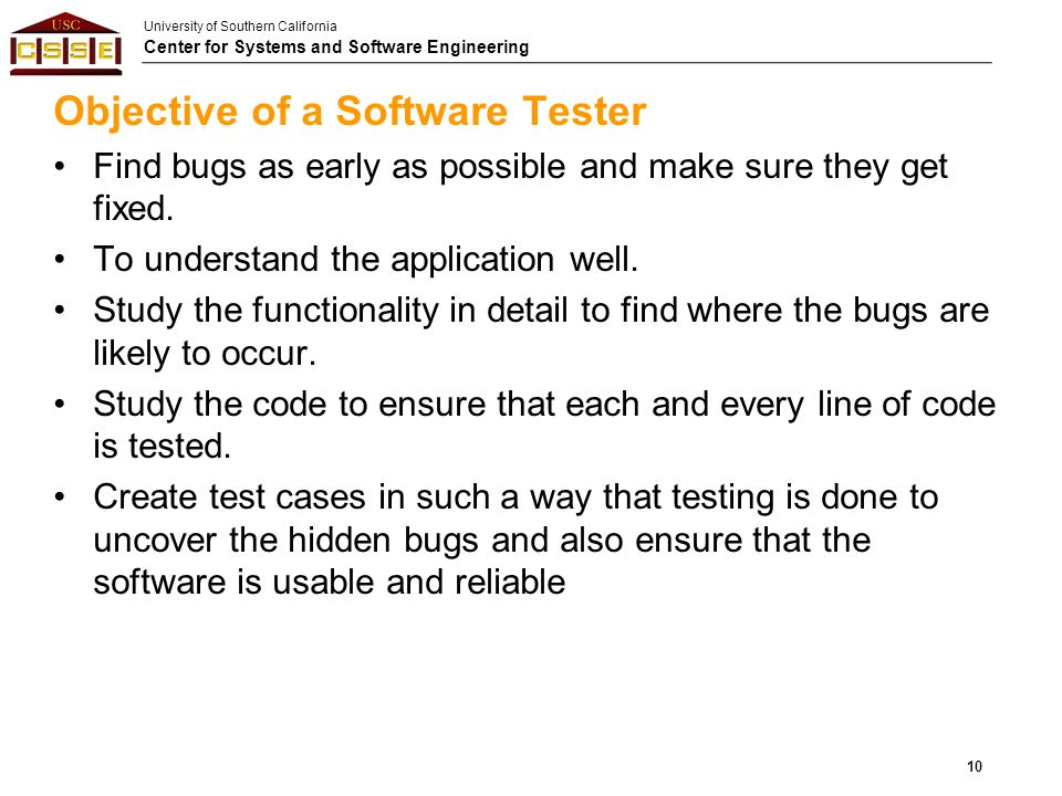 Objective of a Software Tester