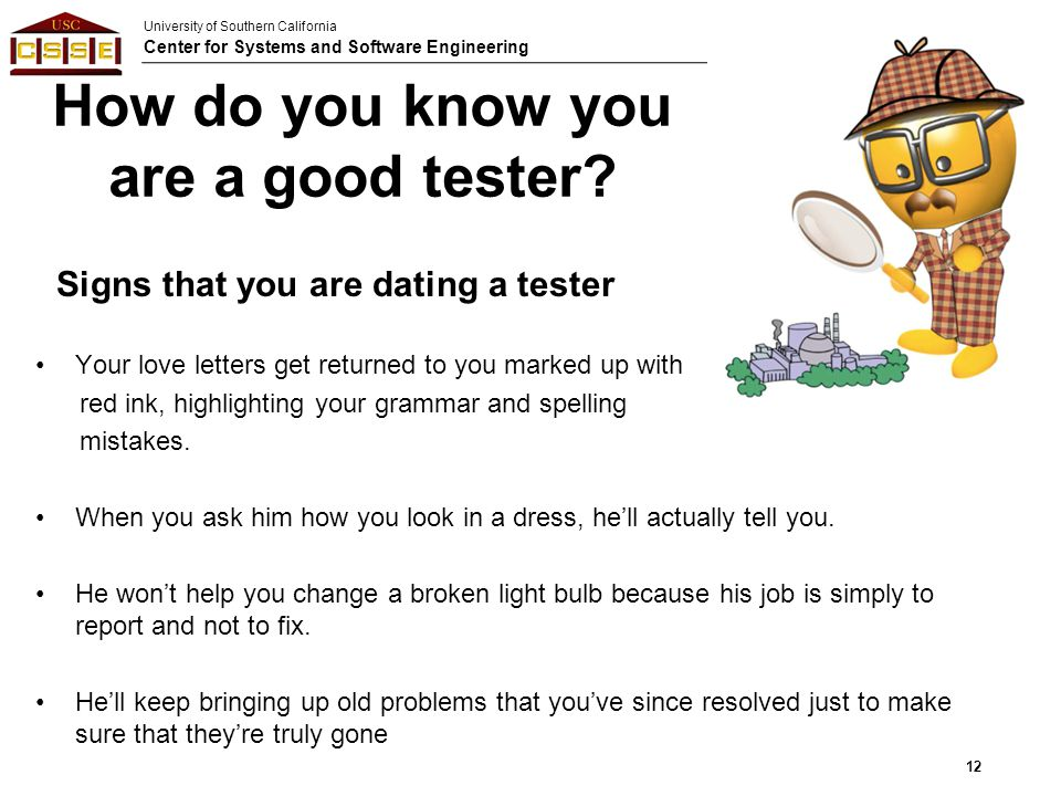 How do you know you are a good tester