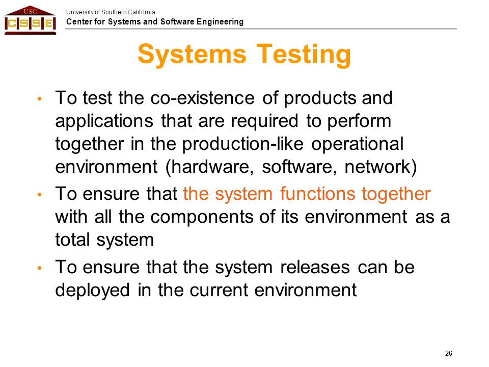 Systems Testing