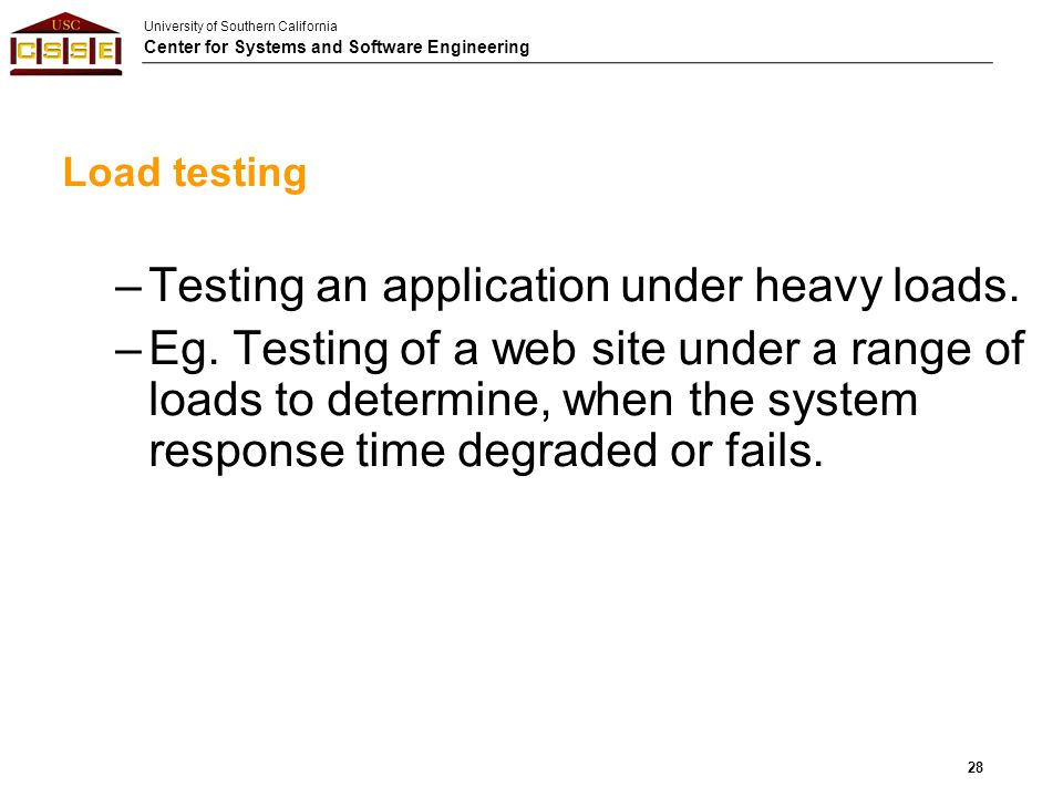 Testing an application under heavy loads.