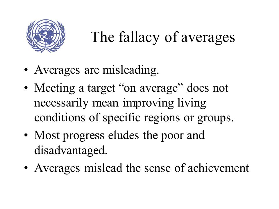 The fallacy of averages