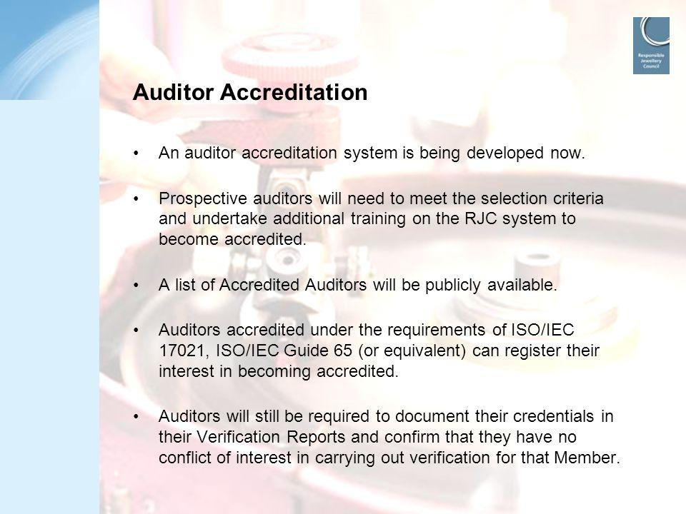 Auditor Accreditation