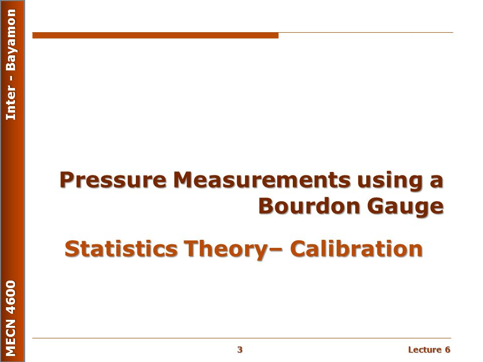 Statistics Theory– Calibration