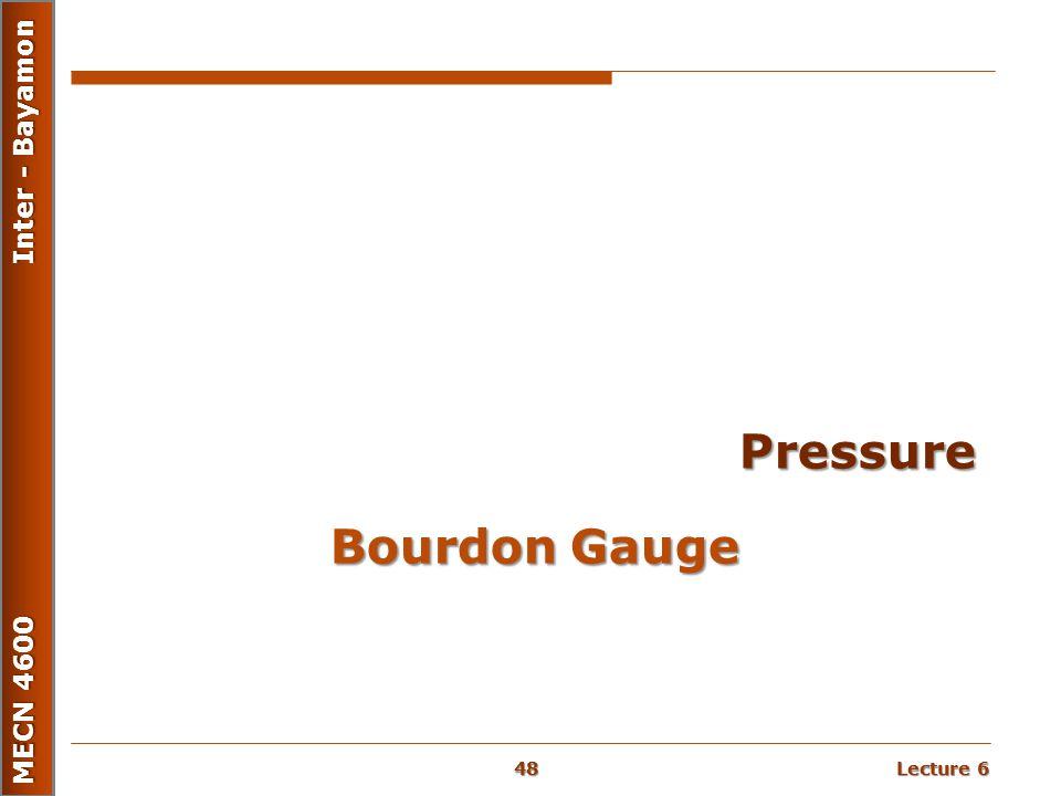 Pressure Bourdon Gauge
