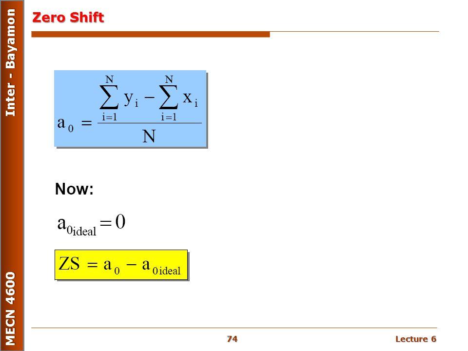 Zero Shift