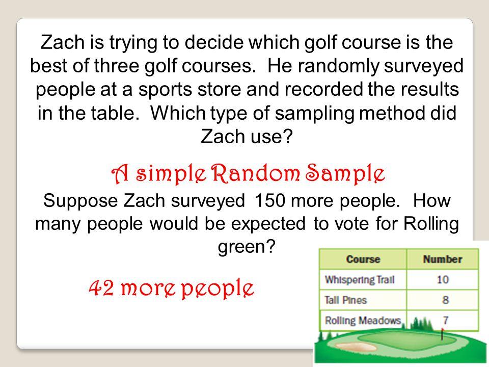 A simple Random Sample 42 more people