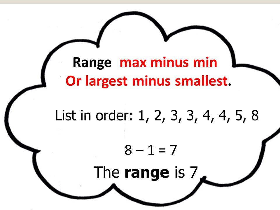 Or largest minus smallest.