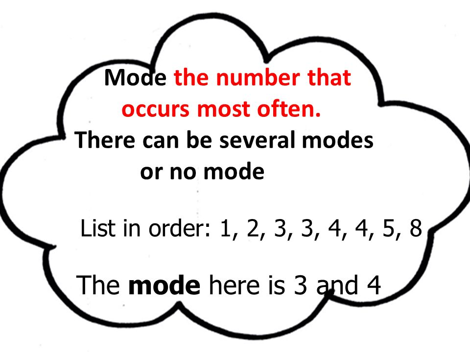 There can be several modes or no mode